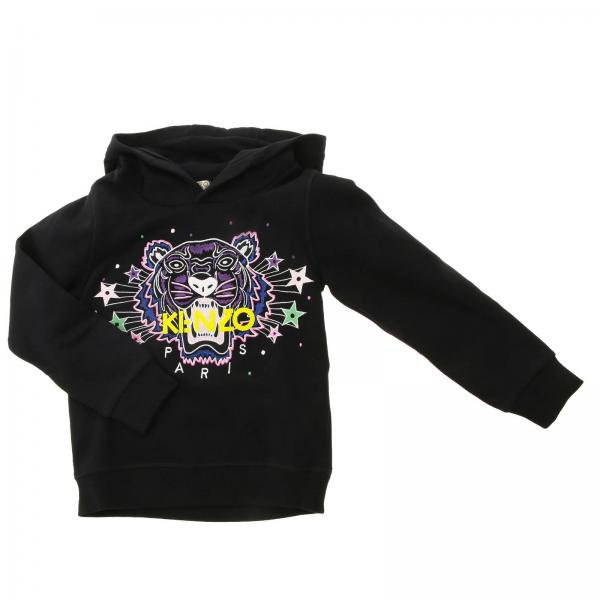 Kenzo Junior crew neck sweatshirt with maxi Tiger Kenzo Paris logo