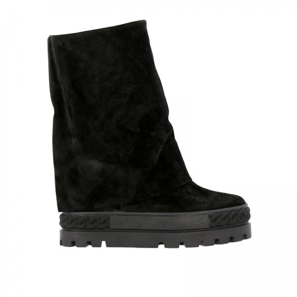 Baskets bottines double face Renna Casadei en daim