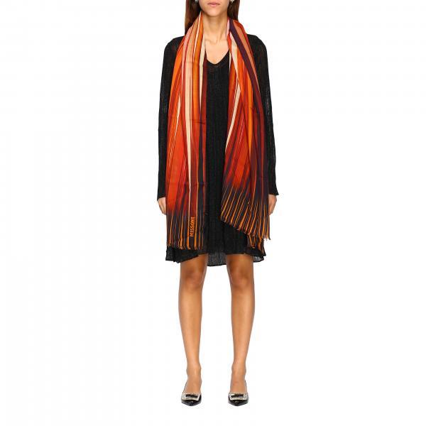 Sciarpa Missoni in seta e lana con righe sfumate