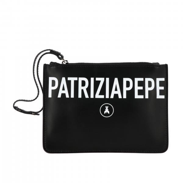 detailed look 370df bb9aa Pochette patrizia pepe in pelle con stampa logo