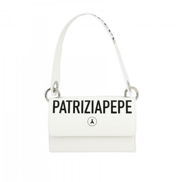 Patrizia Pepe leather bag with logo print