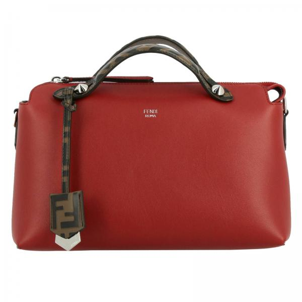 Small Bag By The Way In Smooth Leather With Removable Shoulder Strap And Ff Fendi Handles by Fendi