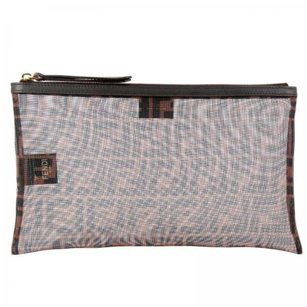 Fendi Large clutch in micro-mesh with FF maxi print by Fendi