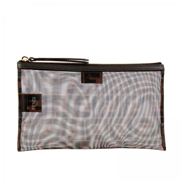 Fendi Medium clutch in micro-mesh with FF maxi print by Fendi