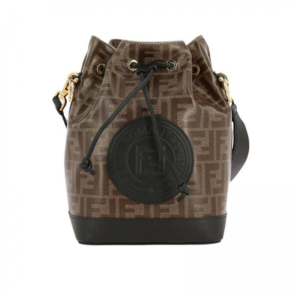 Mon tresor bag by Fendi in vitrified leather with FF monogram