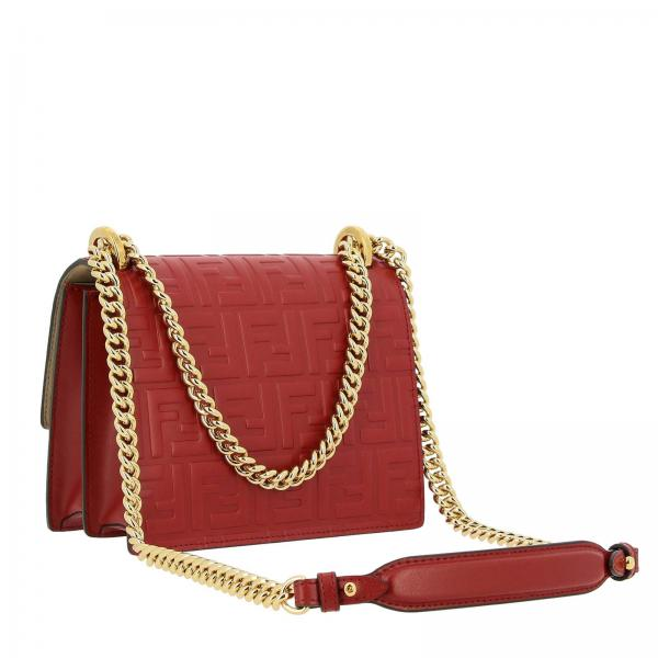Soft Fendi In Borsa A3zg RossoKan Con 8m0417 Small All Over I Donna Mini Monogramma Pelle ALc354RjSq
