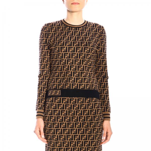 Maglia Fendi A Girocollo Con Monogramma All Over by Fendi