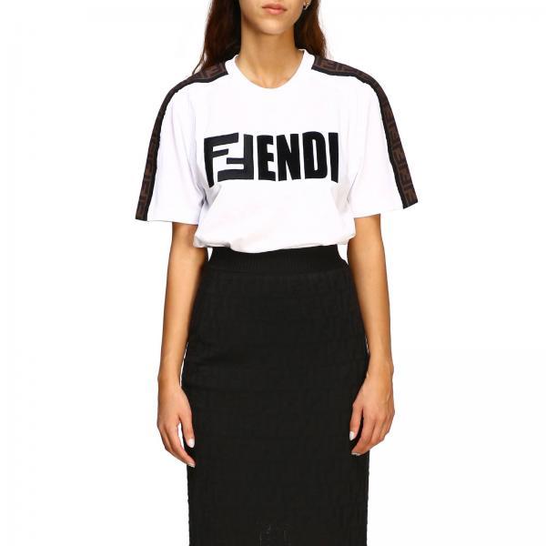 T-shirt Fendi con monogramma FF e maxi logo