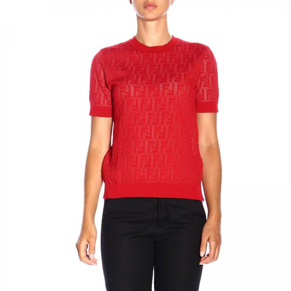 Crew-neck sweater by Fendi with all over monogram