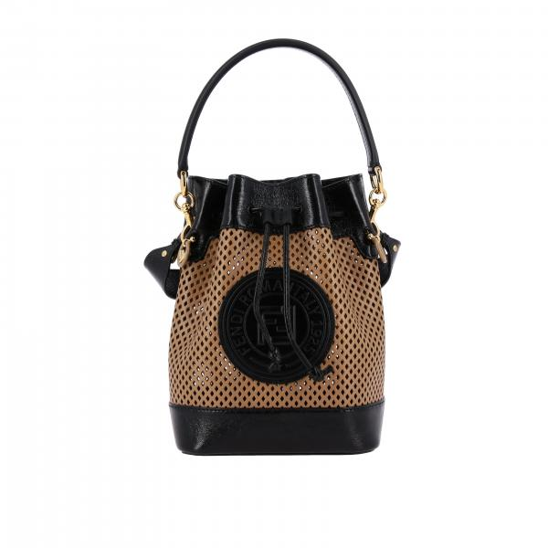 Fendi Mon Tresor Tasche aus perforiertem Leder