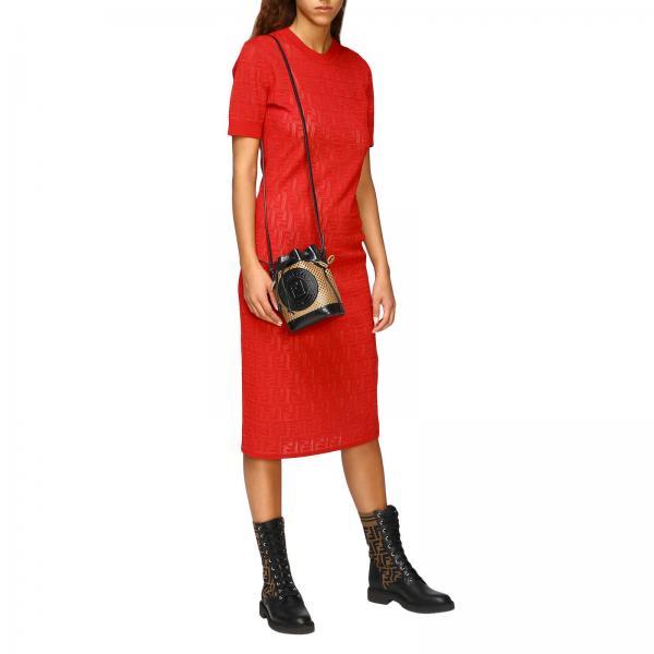 Tresor Borsa Donna A A94o FendiMon 8bs010 Secchiello In Mini Pelle Traforata ECQxBWdore
