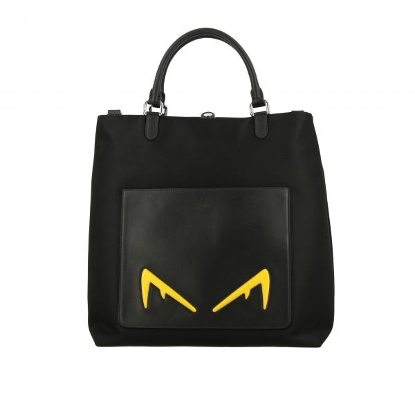 Sac Biabolik eyes shopping Fendi en cuir et nylon
