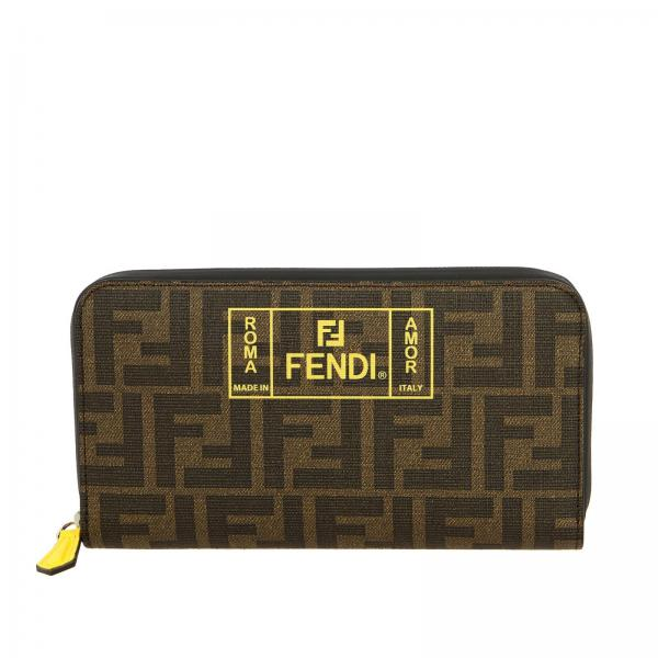 Fendi Continental FF all-over leather wallet with Rome print