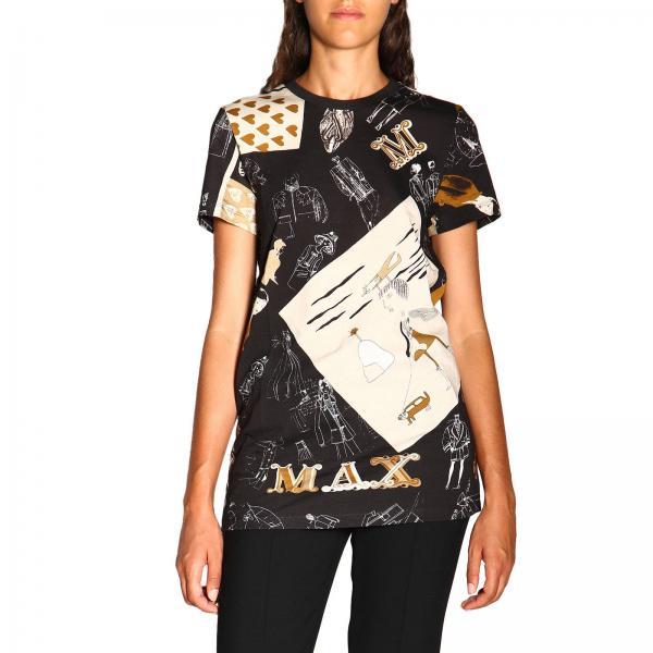 T-shirt Camilla Max Mara a maniche corte con stampa max mara gram