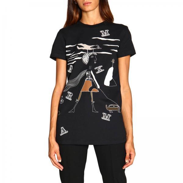 T-shirt Coccole Max Mara a maniche corte con stampa brunetta