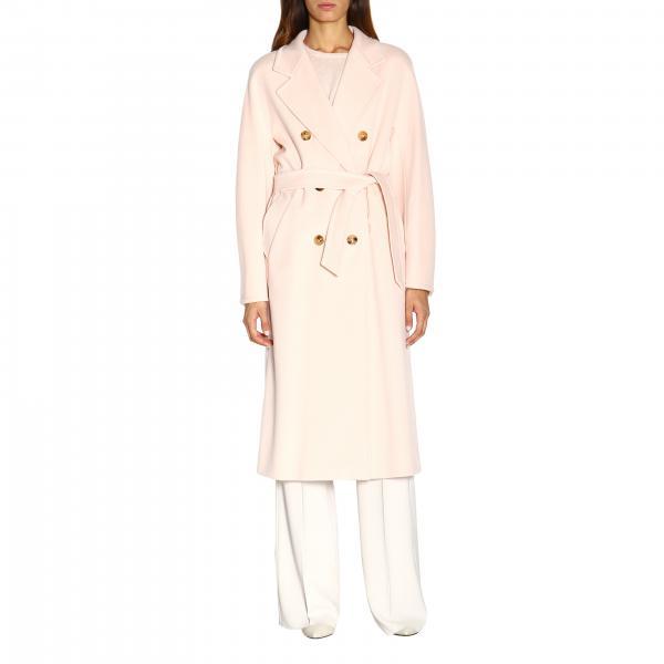 Long manteau Madame Max Mara en mélangé cachemire avec ceinture