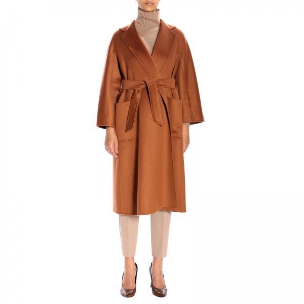 Manteau peignoir Labbro Max Mara en cachemire avec effet zibeline et ceinture