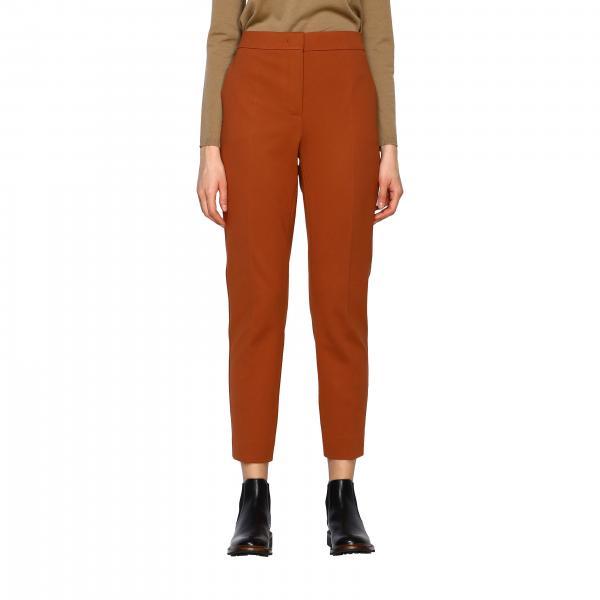 Pantalone Pegno Max Mara classico slim in jersey compatto con tasche america