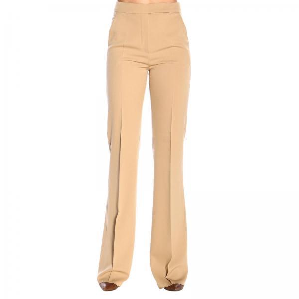 Pantalone Biavo Max Mara flaire classico a vita alta con tasche america