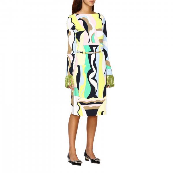 Платье Emilio Pucci с рисунком vallauris и бахромой