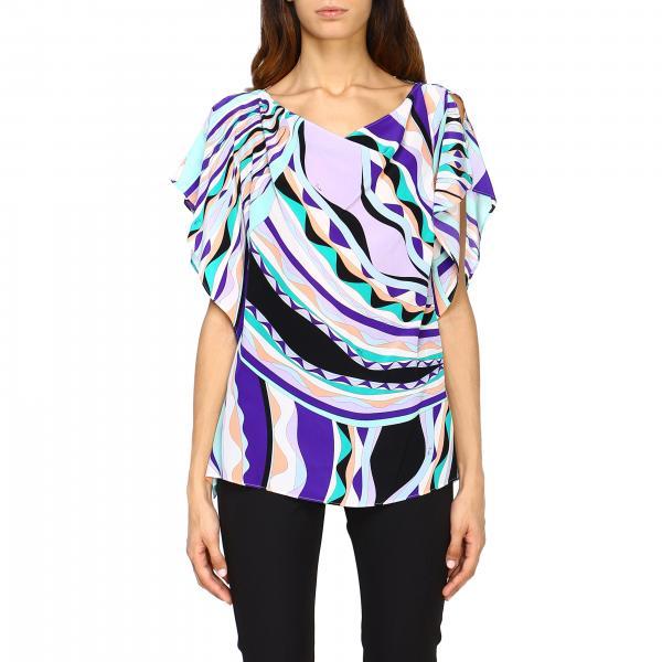 Блузка Emilio Pucci из шелка с узором