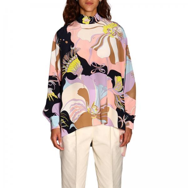 Блузка Emilio Pucci из крепдешина с рисунком mirabilis