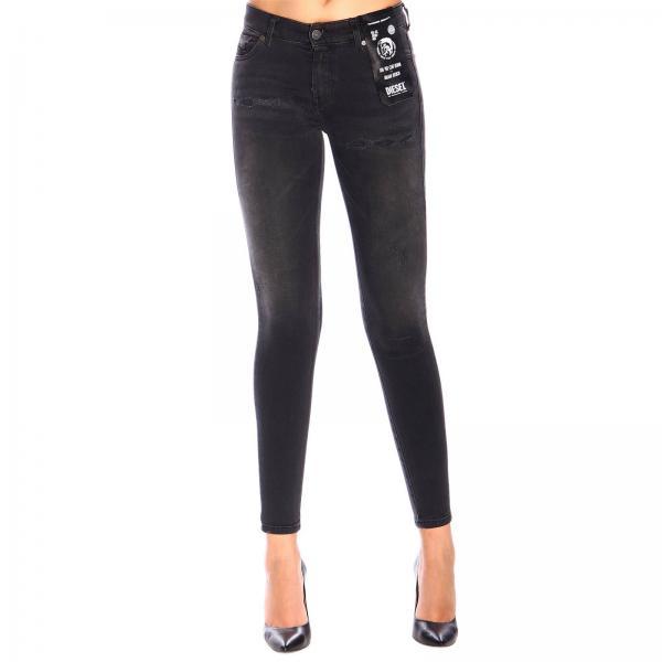 Super Skinny Stretch Jeans mit normaler Taille und 5-Pocket