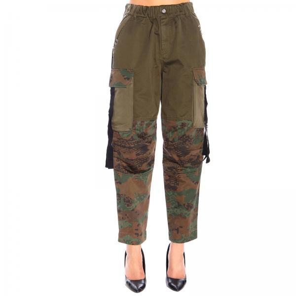 Pantalone P-thena kargo Diesel in tessuto camouflage