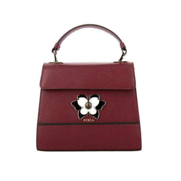 Furla Mughetto bag in smooth leather with butterfly jewel closure