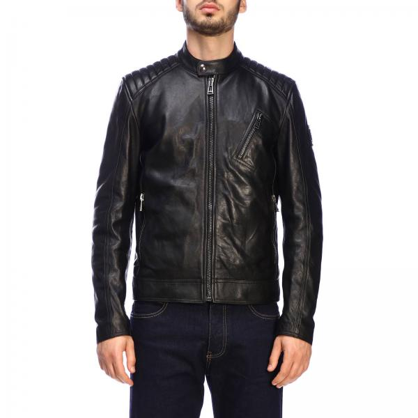 Belstaff V racer biker leather jacket
