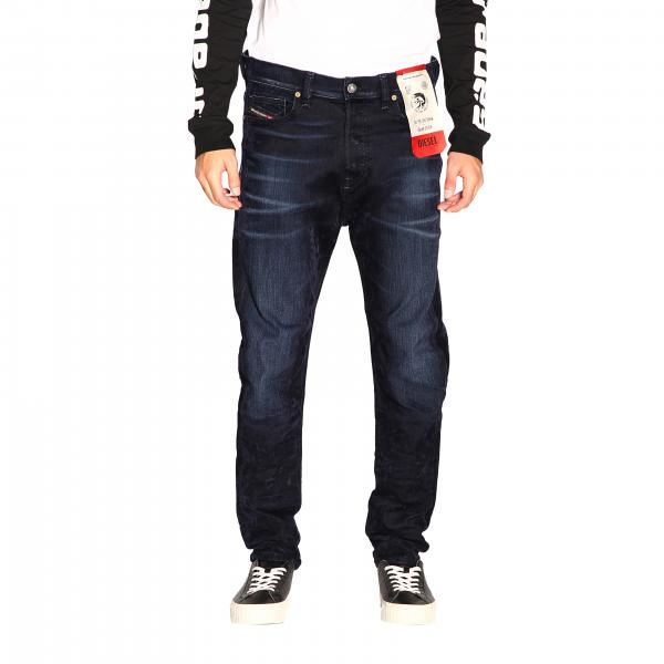Diesel D-vider Stretch jeans with low crotch and velvet treatment