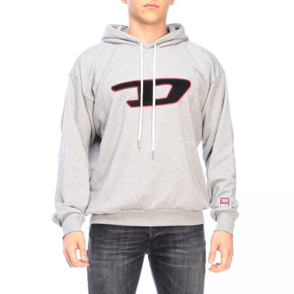 Diesel sweatshirt with hood and maxi sponge logo