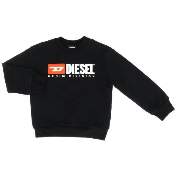 Diesel logo装饰圆领卫衣