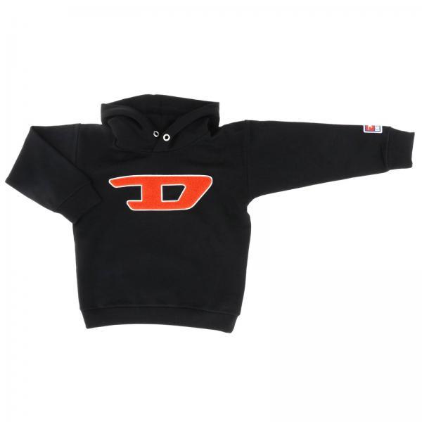 Diesel sweatshirt with hood and sponge logo