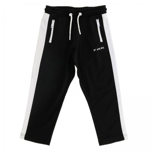 Pantalon de jogging Diesel en acétate avec cordon et bandes latérales