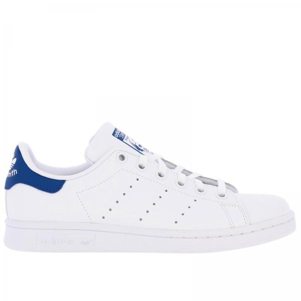 Zapatillas Stan Smith J Adidas Originals de cuero con tacón en contraste