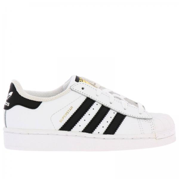 Adidas Originals Superstar Sneakers in leather with 3 contrasting stripes