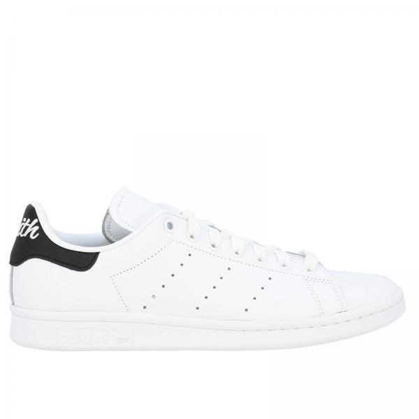 Stan Smith Adidas Originals Sneakers aus Leder mit Kontrastabsatz