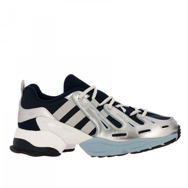 Yung-1 sneakers rete e camoscio bicolor fluo