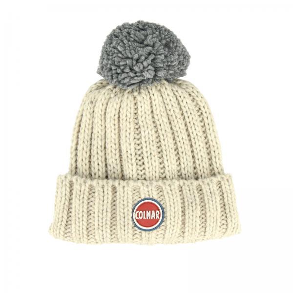 Bonnet Colmar en laine avec maxi pompons