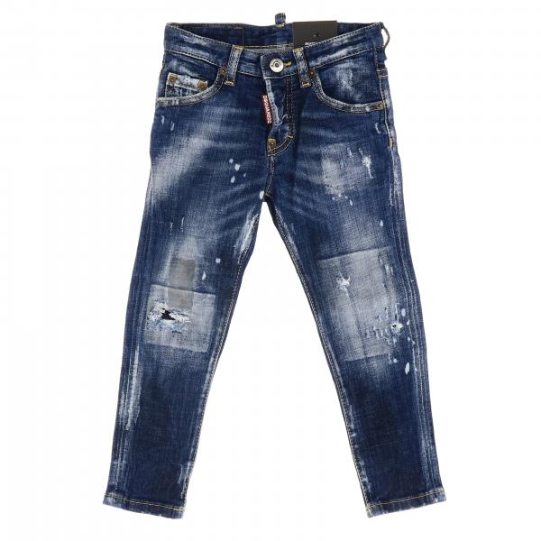 Skater denim used stretch con rotture e sporcature