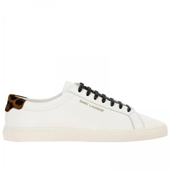 Sneakers Andy low Saint Laurent stringata in pelle liscia con logo
