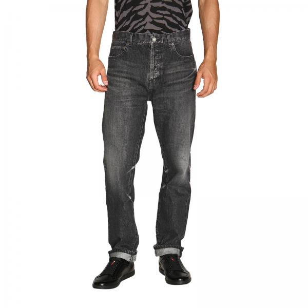 Jeans Saint Laurent in denim straight stretch