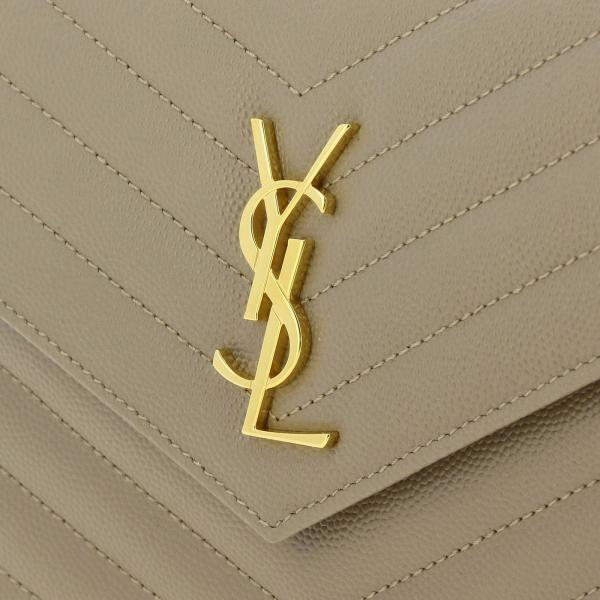 De Bow01 Trapuntata Ysl Mini Borsa Poudre Chain Wallet 393953 Logo Donna Envelope LaurentMonogram Con In Grain Pelle Saint roExQdeWCB