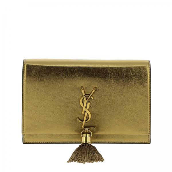 Borsa Kate Monogram YSL chain wallet in vera pelle laminata