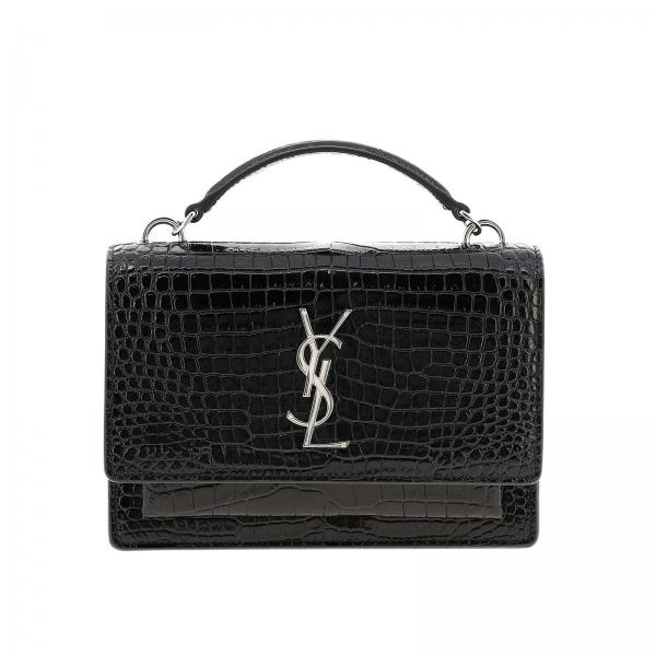 Borsa Sunset Monogram YSL chain wallet in vera pelle stampa cocco