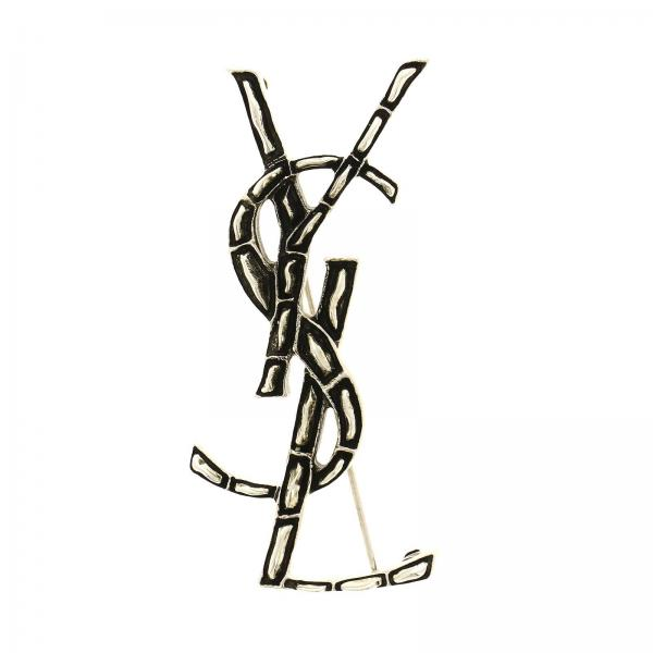 Brooch with YSL monogram by Saint Laurent