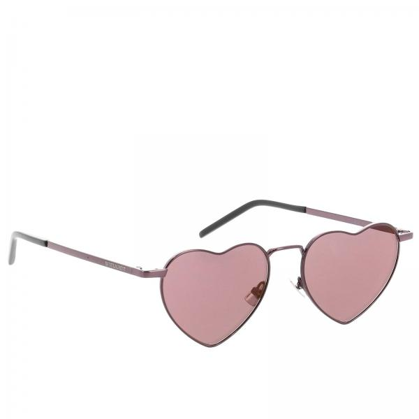 Sl301 heart metal glasses by Saint Laurent