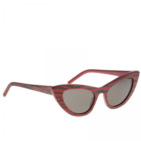 Occhiali Sl213 Saint Laurent in acetato zebrato