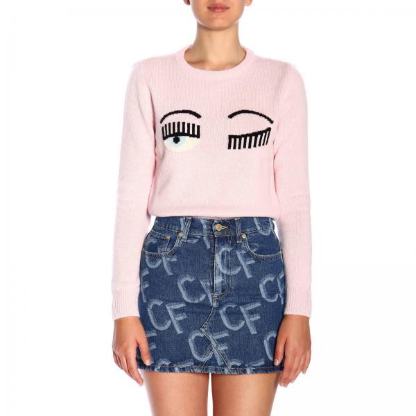 Pullover Flirting Chiara Ferragni in lana con ricamo Eyes